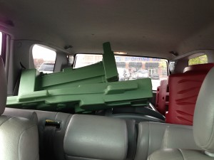 The guy at Toys R Us loved me when I made him take every single part out of the box that was too big for my car.