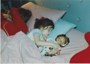 See? Thanks for letting my pretend baby and me sleep in your bed and setting up a generational cycle.