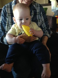 Ha! Corn with butter! Allergy jokes are funny.