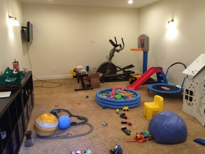 The heart of the house. Playroom/exercise room. I would've cleaned it up to take a pic but that would not be representative.